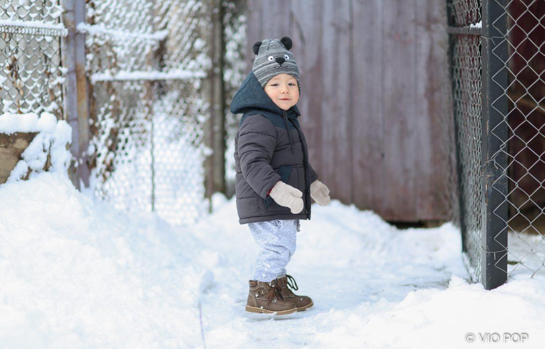 Bucurie în zăpadă